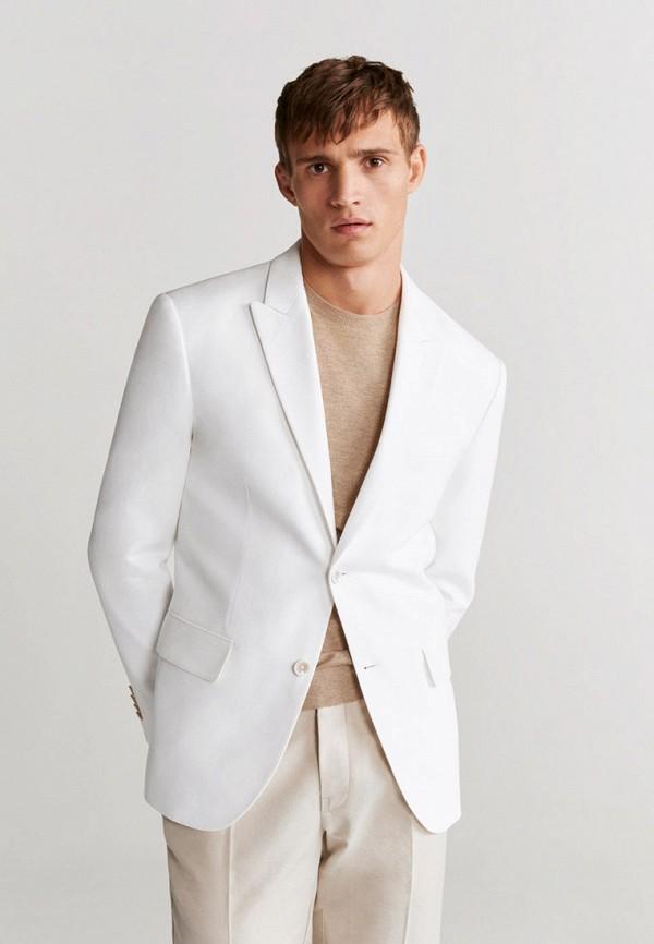мужской пиджак mango man, белый