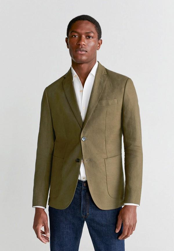 мужской пиджак mango man, хаки