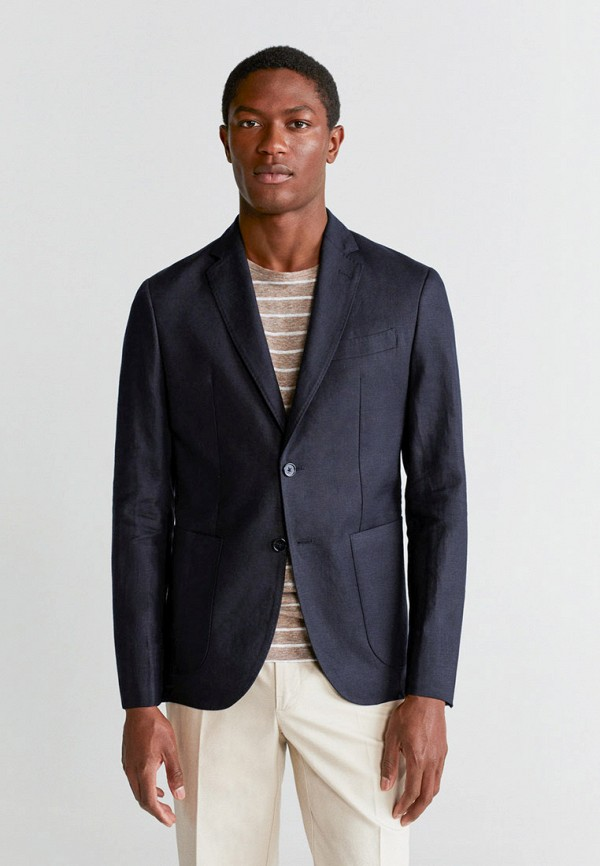 мужской пиджак mango man, черный