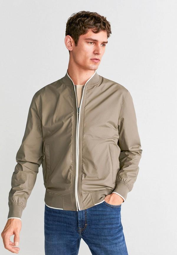 мужская куртка mango man, бежевая