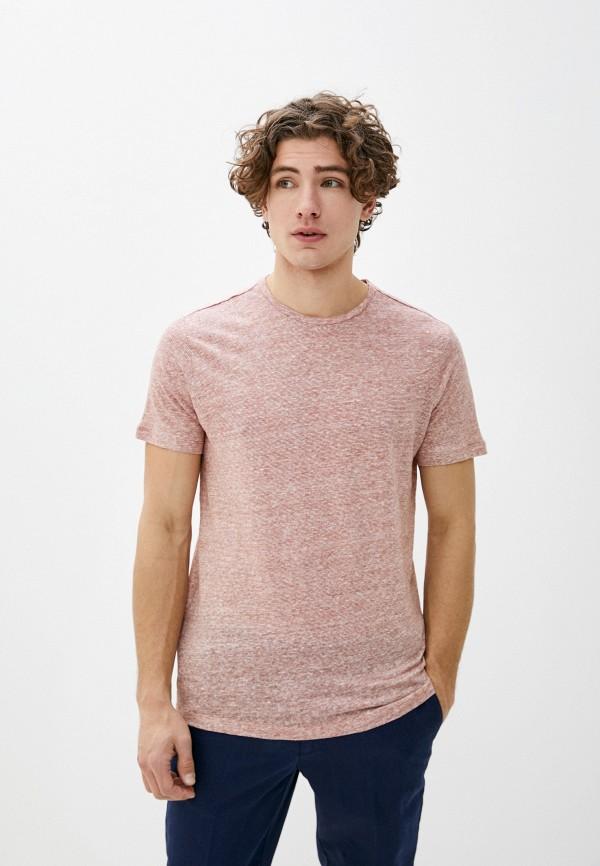 мужская футболка с коротким рукавом mango man, розовая
