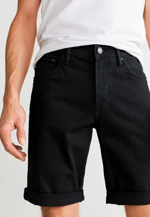 мужские джинсовые шорты mango man, черные