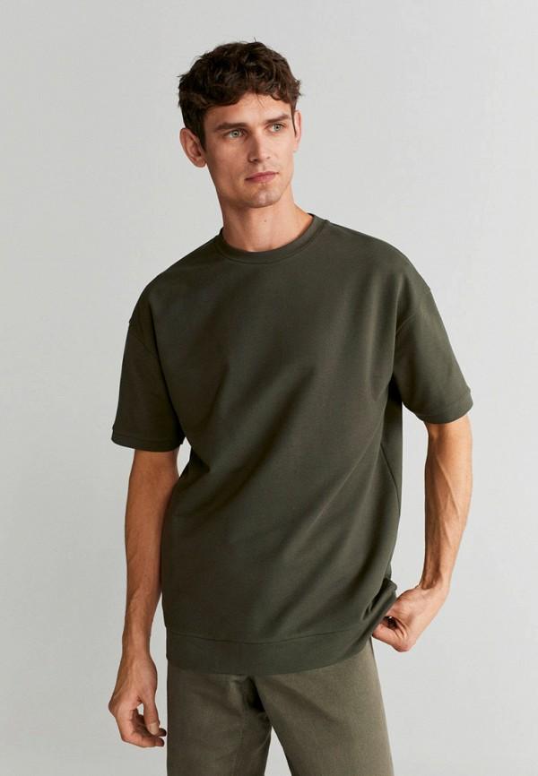 мужская футболка с коротким рукавом mango man, хаки