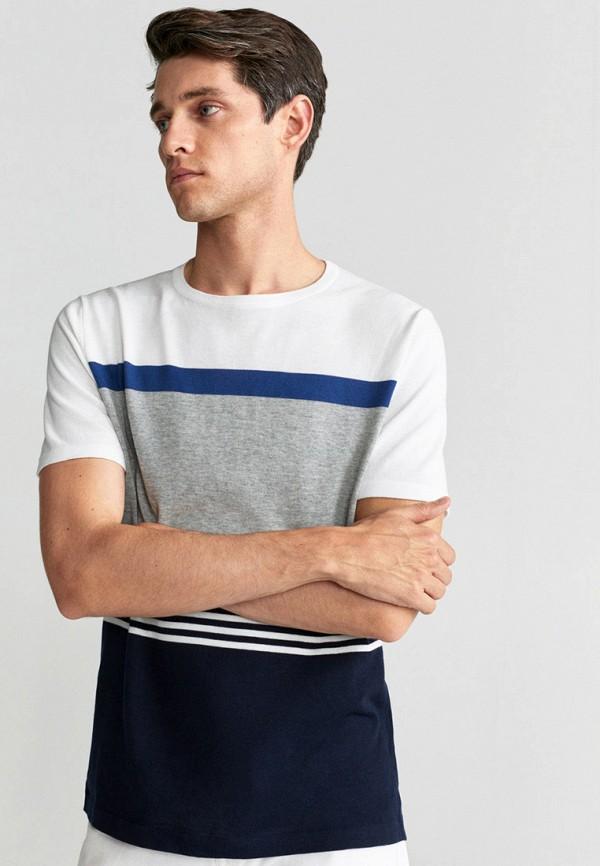 мужская футболка с коротким рукавом mango man, разноцветная