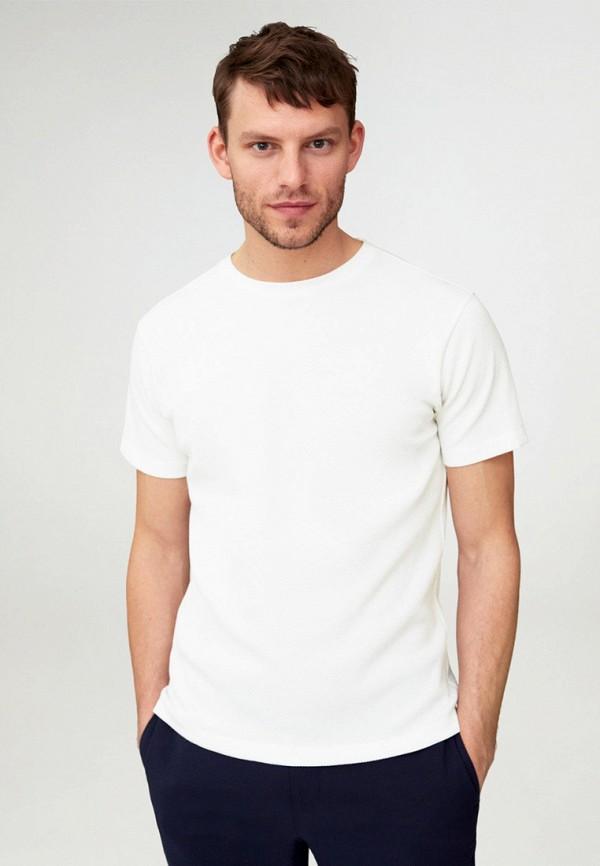 мужская футболка с коротким рукавом mango man, белая