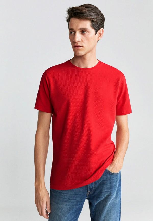 мужская футболка с коротким рукавом mango man, красная