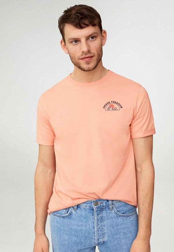 мужская футболка с коротким рукавом mango man