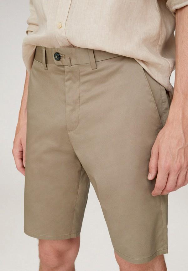 мужские повседневные шорты mango man, бежевые