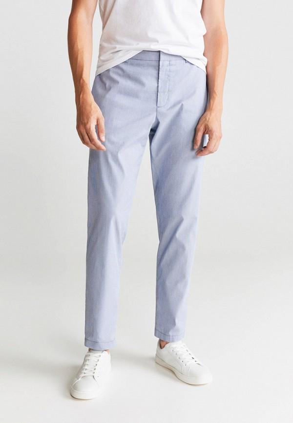 мужские брюки чинос mango man, голубые