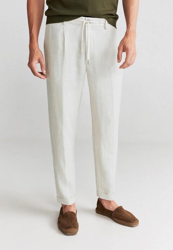 мужские повседневные брюки mango man, бежевые