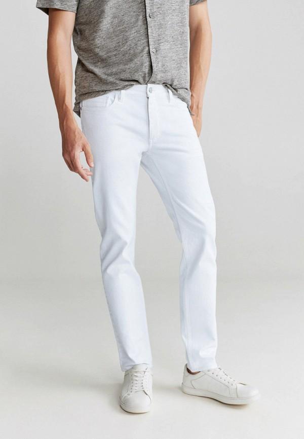 мужские прямые джинсы mango man, белые