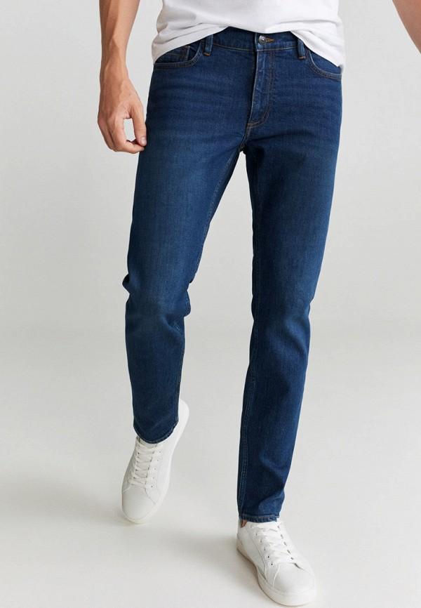 мужские зауженные джинсы mango man, синие