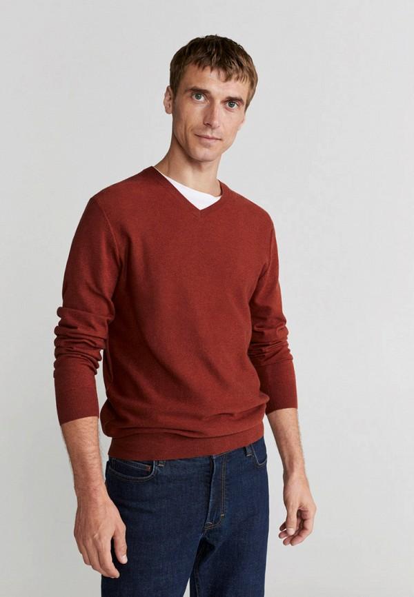мужской пуловер mango man, красный
