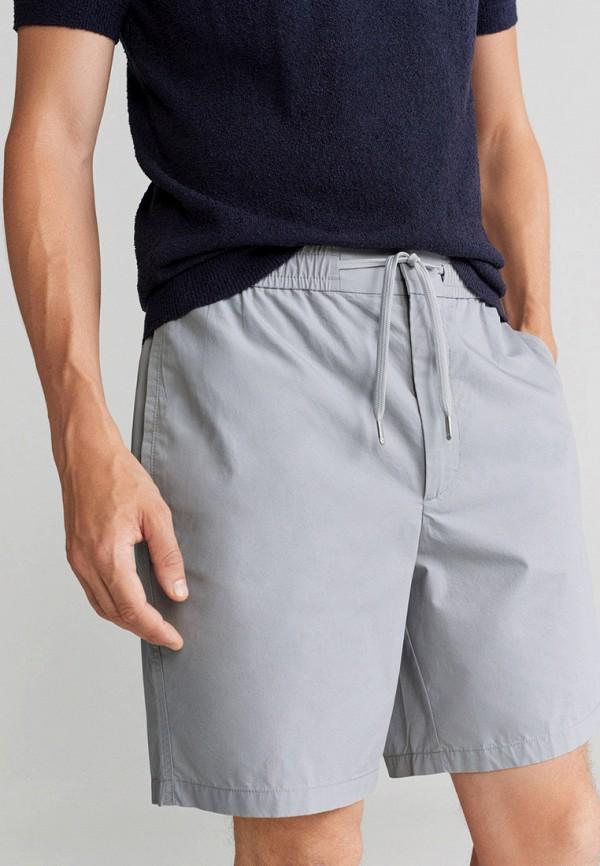 мужские повседневные шорты mango man, серые