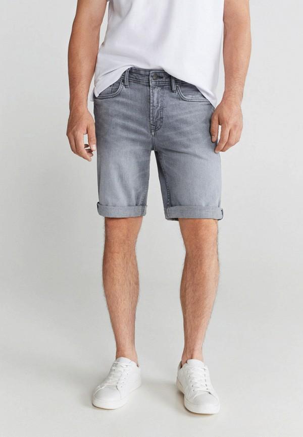 мужские джинсовые шорты mango man, серые