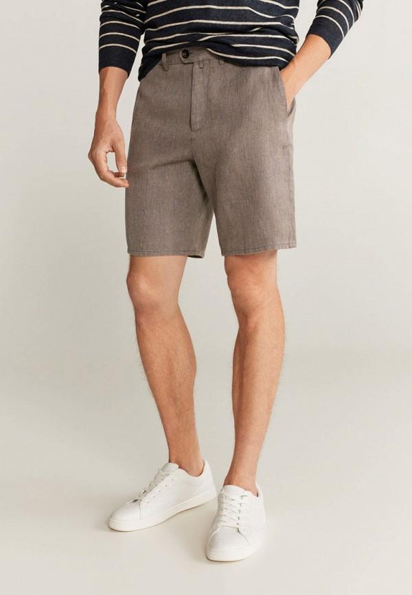мужские повседневные шорты mango man, коричневые