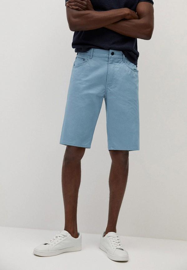 мужские джинсовые шорты mango man, голубые