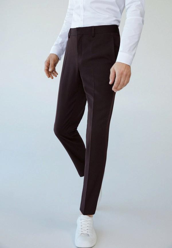мужские классические брюки mango man, бордовые