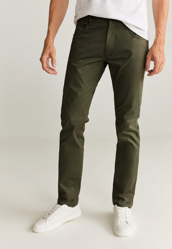 мужские повседневные брюки mango man, хаки