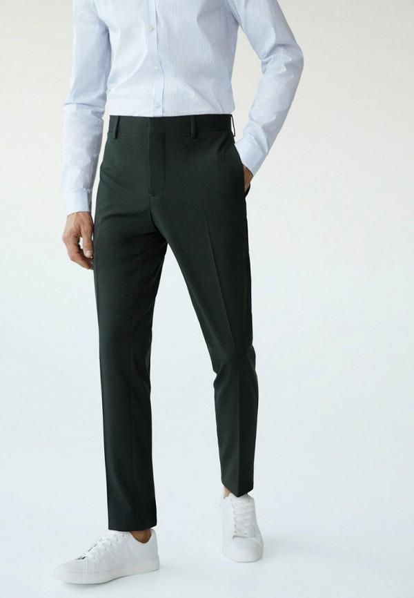 мужские классические брюки mango man, зеленые