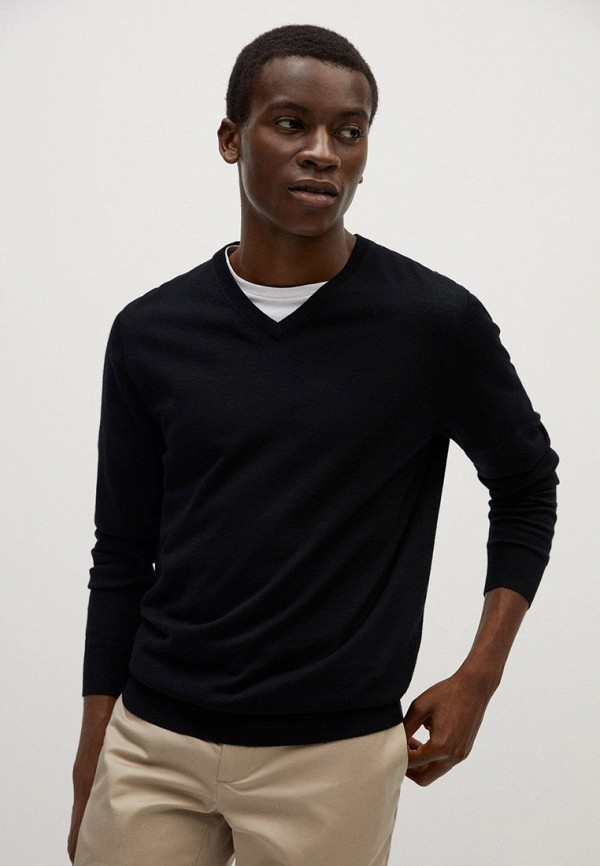 мужской пуловер mango man, черный