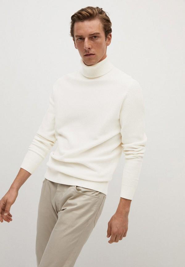 мужской свитер mango man, белый