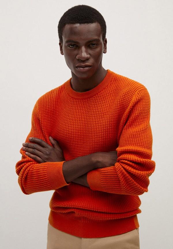 мужской джемпер mango man, оранжевый