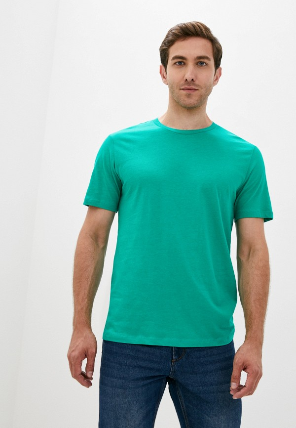 мужская футболка с коротким рукавом mango man, зеленая