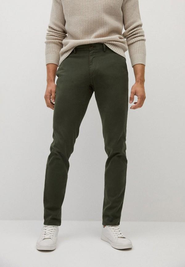 мужские прямые брюки mango man, хаки