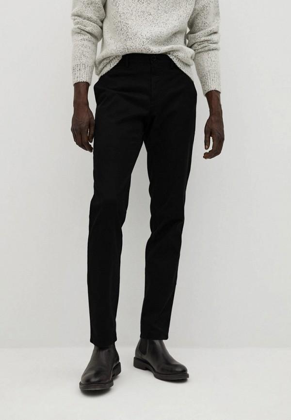 мужские брюки чинос mango man, черные