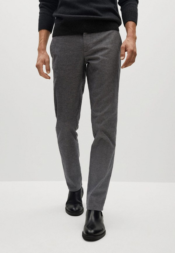 мужские повседневные брюки mango man, серые