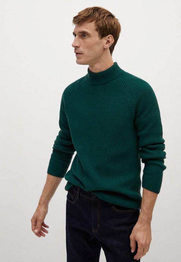 мужской свитер mango man, зеленый