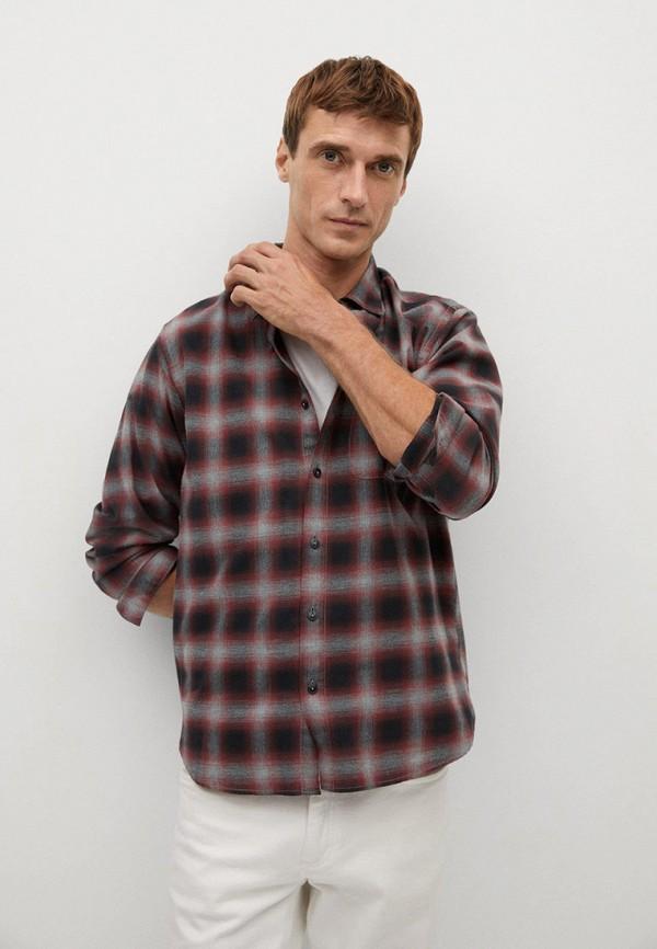 мужская рубашка с длинным рукавом mango man, разноцветная