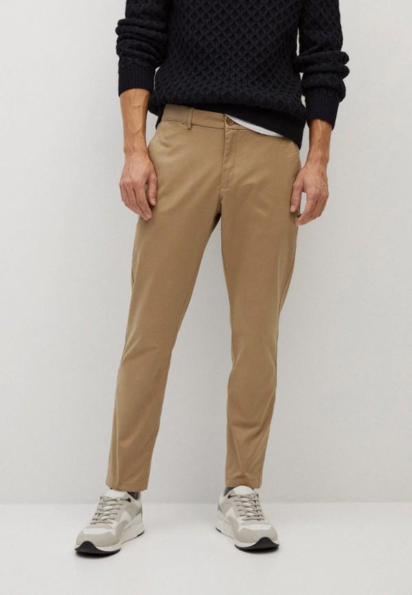мужские повседневные брюки mango man, коричневые