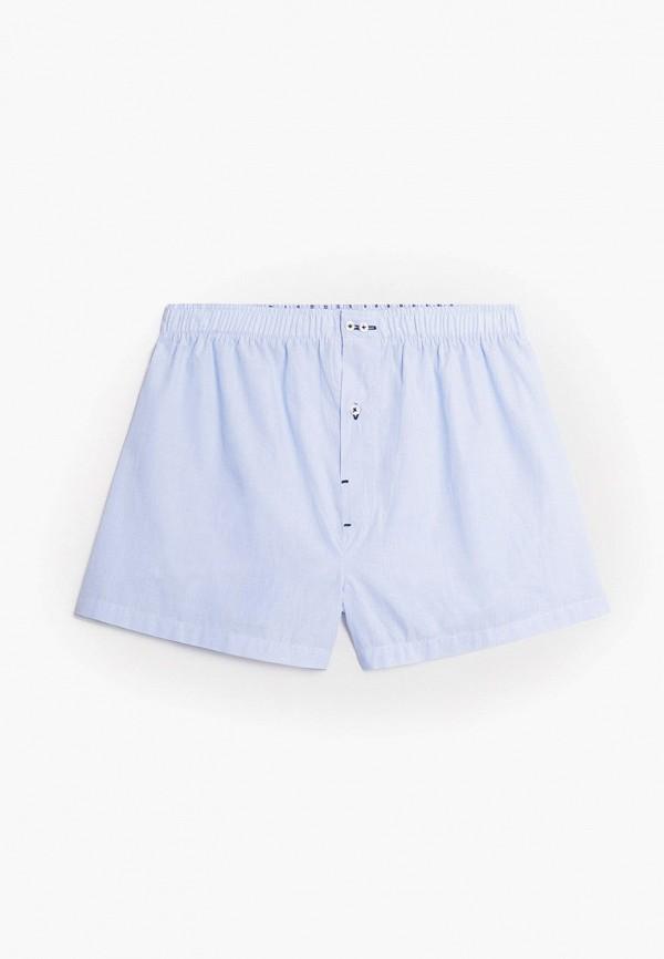мужские трусы-шорты mango man, голубые