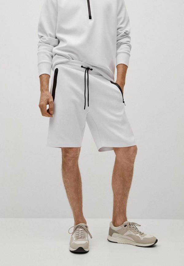 мужские шорты mango man, белые