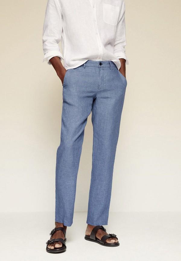 мужские повседневные брюки mango man, голубые