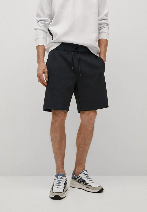 мужские повседневные шорты mango man, черные