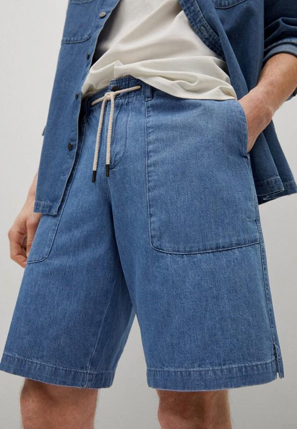 мужские джинсовые шорты mango man, синие