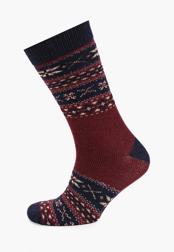 мужские носки mango man, бордовые