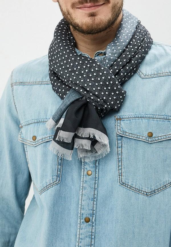 Фото 3 - мужской шарф Mango Man серого цвета