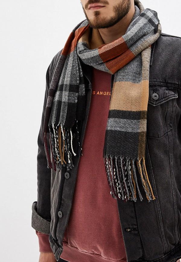 Фото 3 - мужской шарф Mango Man коричневого цвета