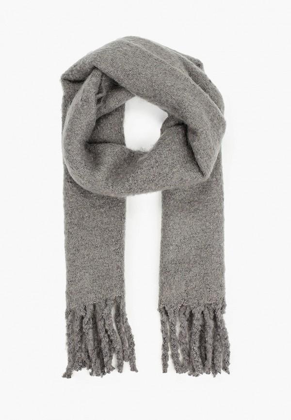 мужской шарф mango man, серый