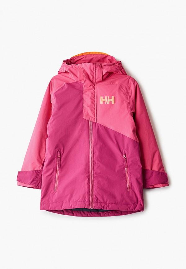 куртка helly hansen для девочки, розовая