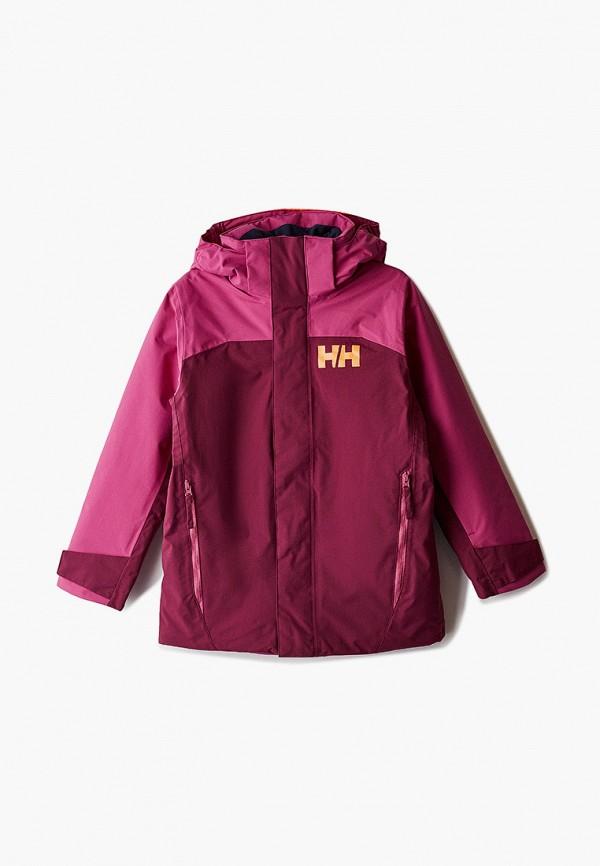 куртка helly hansen для девочки, бордовая