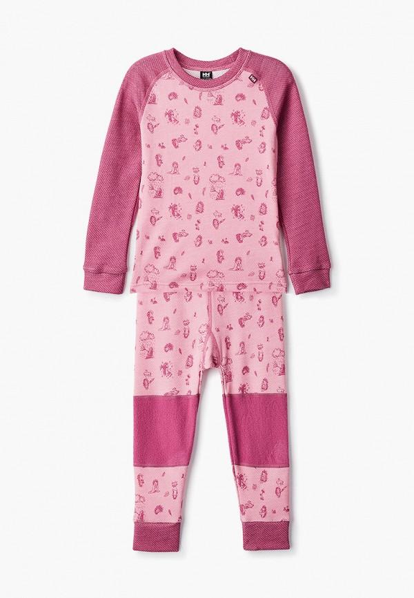 термобелье helly hansen для девочки, розовое
