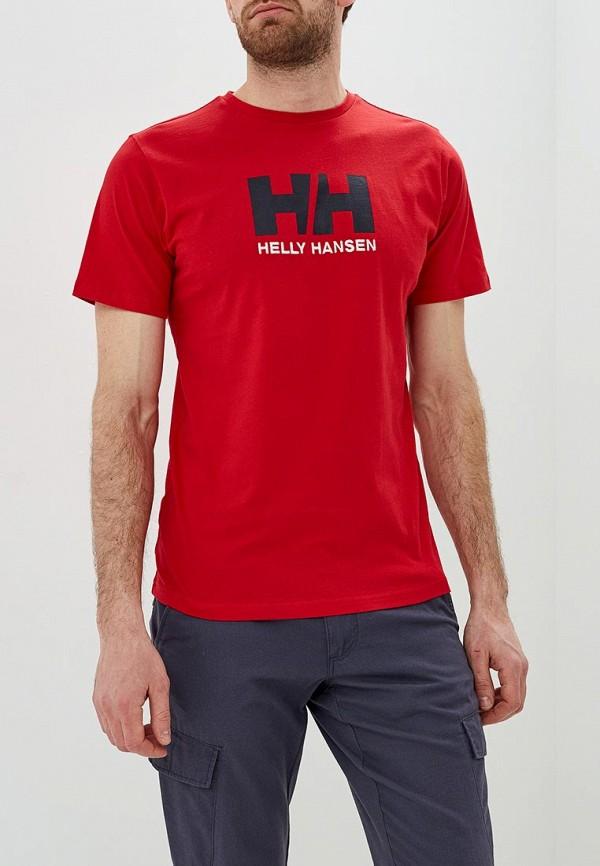 мужская спортивные футболка helly hansen, красная