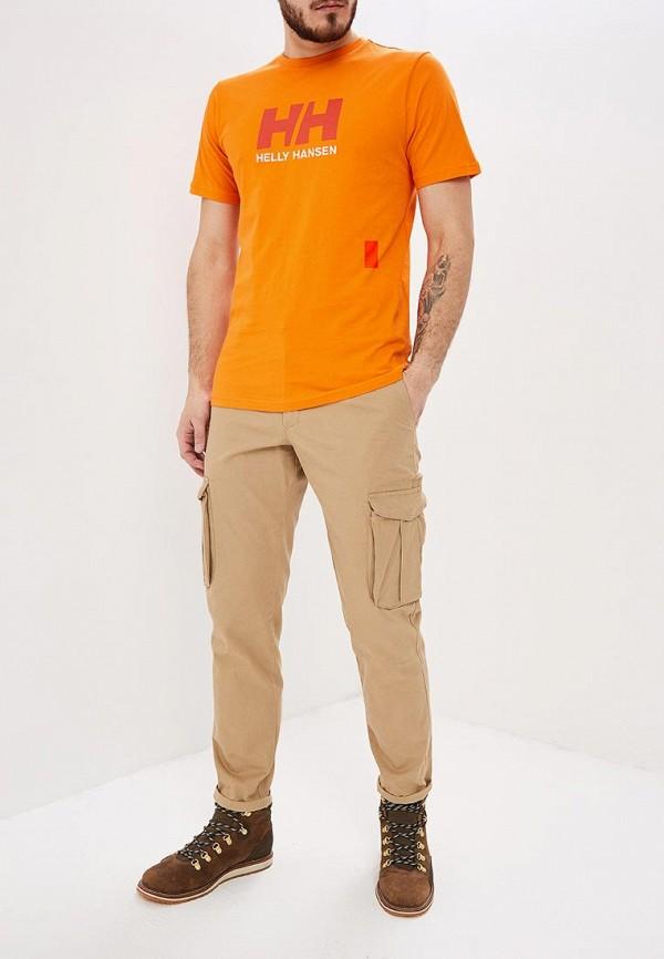 Фото 2 - Футболку спортивная Helly Hansen оранжевого цвета