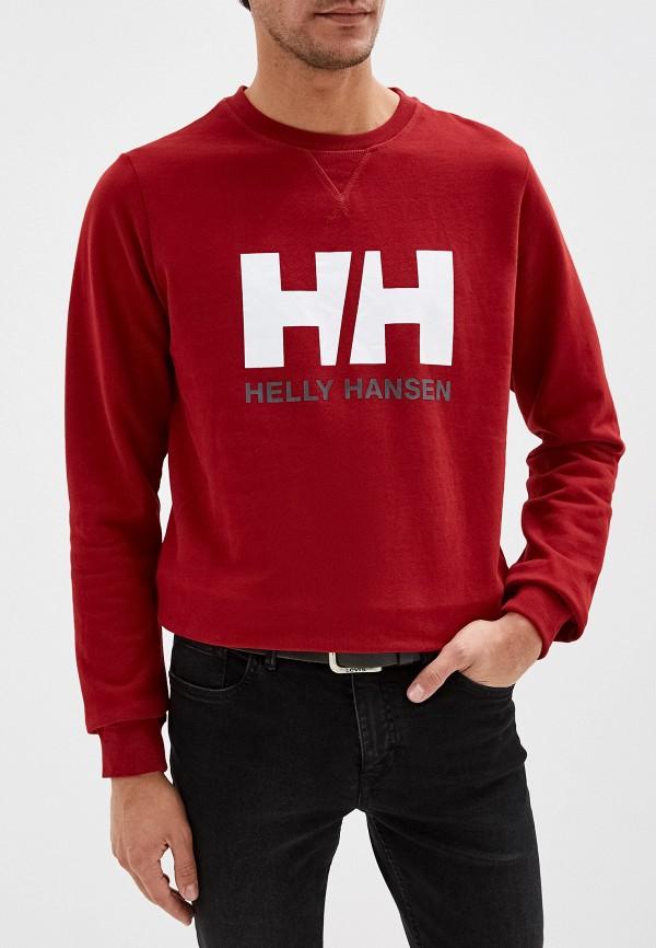 мужской свитшот helly hansen, красный