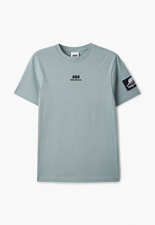 женская спортивные футболка helly hansen, зеленая